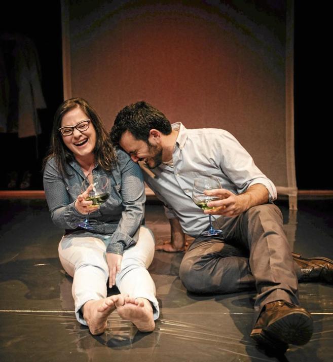Inma Cuevas y Fran Calvo en un momento de la obra.