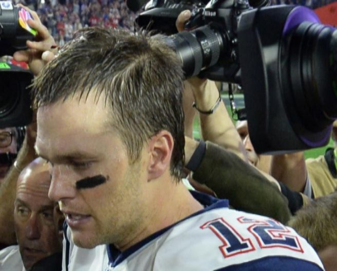 El quarterback de los Patriots, Tom Brady.