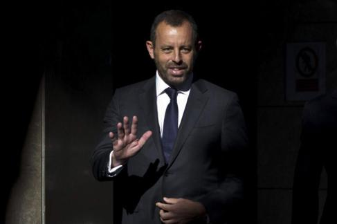 Sandro Rosell, en su comparecencia en la Audiencia el pasado julio.