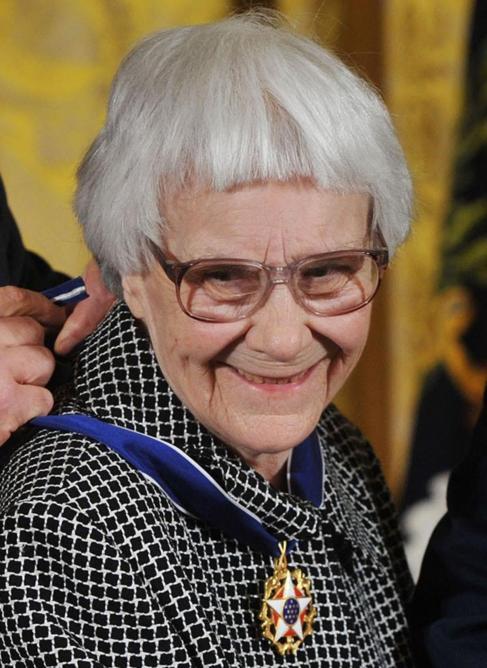 La ganadora del premio Pulitzer, Harper Lee.