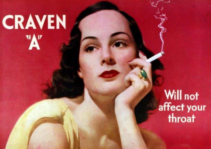 Craven 'A' aseguraba a las mujeres en su publicidad que su tabaco no...