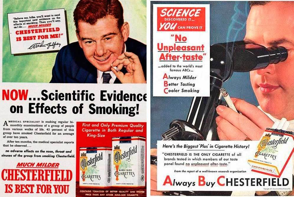 La publicidad recurría a los científicos para disipar cualquier duda...