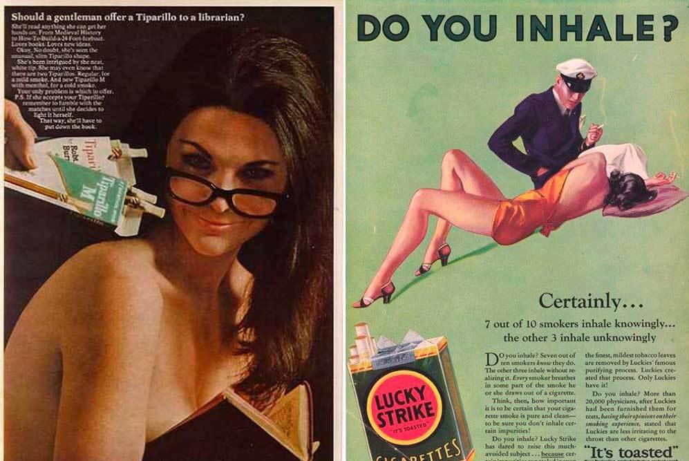 Algunos de los anuncios tenían claras connotaciones sexistas. Este de...