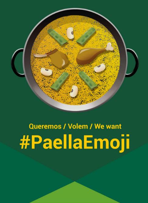 Diseño del 'emoji' de la paella propuesto por la marca de...
