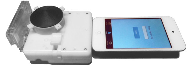 Accesorio que, conectado a un smartphone, puede detectar la infección...