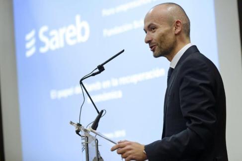 El secretario general de la Sareb, Óscar García Maceiras, en...