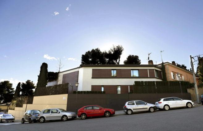 Fotografía de archivo del palacete en el barrio barcelonés de...