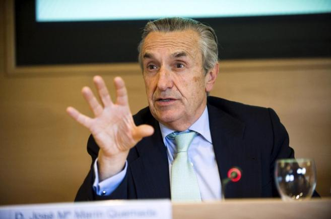 El presidente de la CNMC, José María Marín Quemada, durante una...