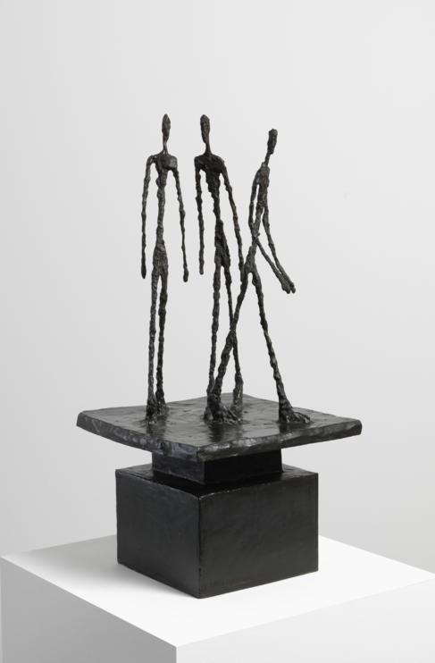 Escultura de Alberto Giacometti titulada 'Trois hommes qui...