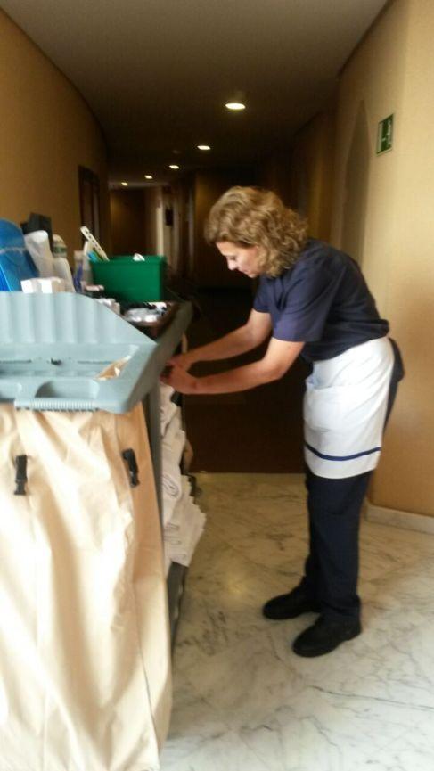 Mary Ramírez, limpiadora de un hotel del sur de Gran Canaria.