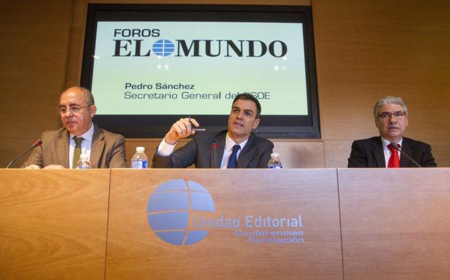 El secretario general del PSOE, Pedro Sánchez, en el Foro de EL...