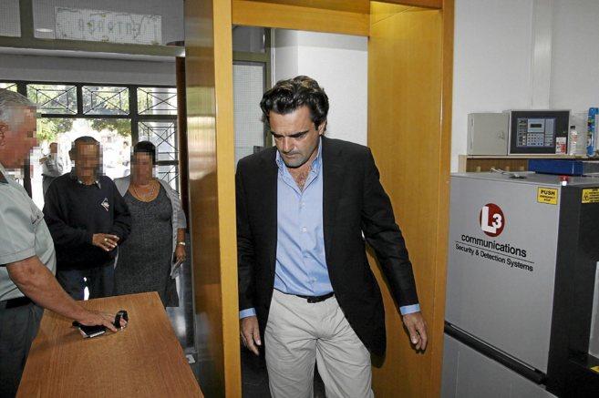 Sánchez Luna en el juzgado en una imagen de archivo.