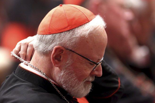 El cardenal de Boston, Sean Patrick O'Malley, en la Basílica de...