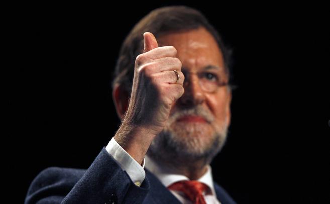 Mariano Rajoy, ayer, en el acto en Torremolinos para presentar a Juan...