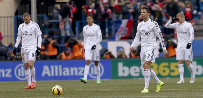 Benzema, Varane, Cristiano y Kroos, abatidos tras un gol del...