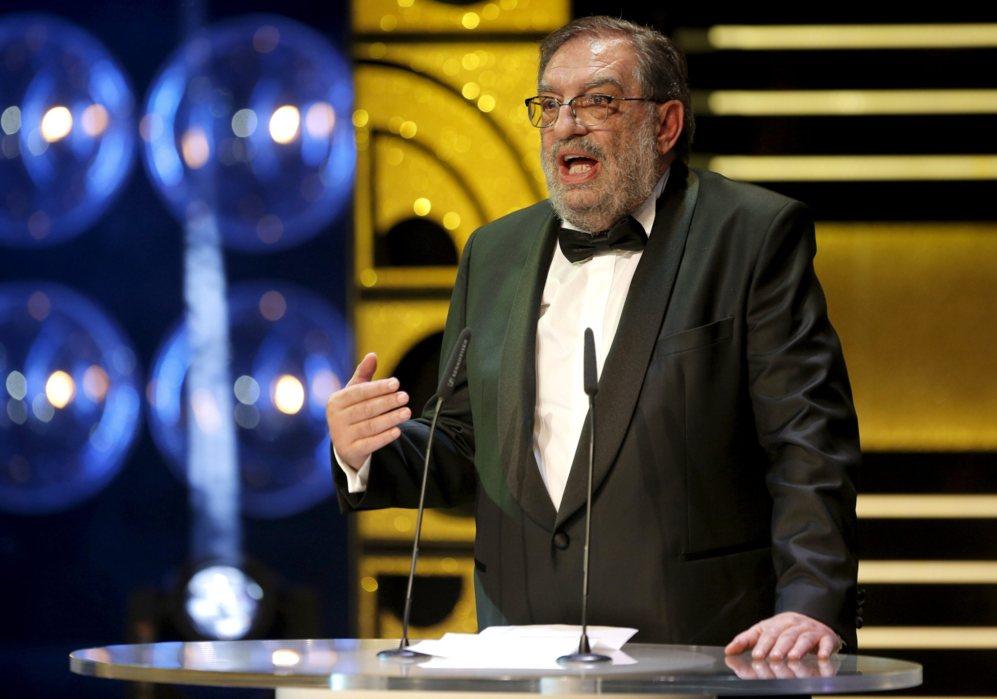 González-Macho, el director de la Academia, sentado minutos antes...
