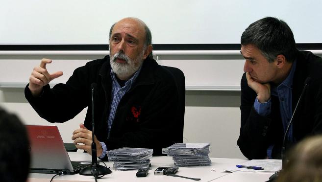 Francisco Etxeberria junto a Jonan Fernández, el viernes pasado.