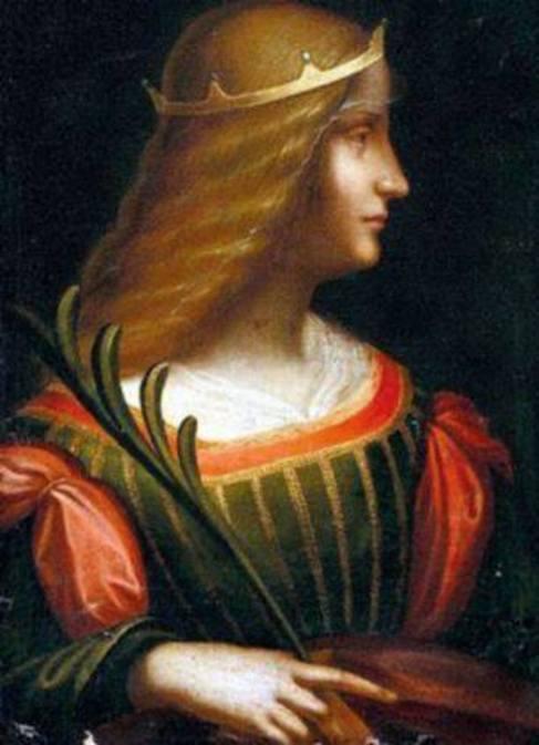 El retrato de Isabel de Este de Leonardo da Vinci.