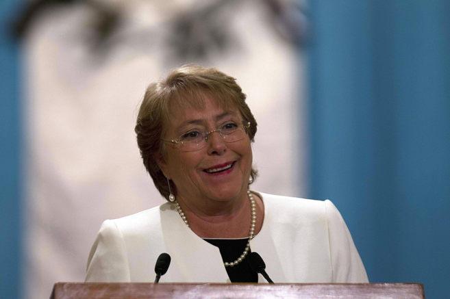 Bachelet, el pasado 30 de enero durante una conferencia de prensa.