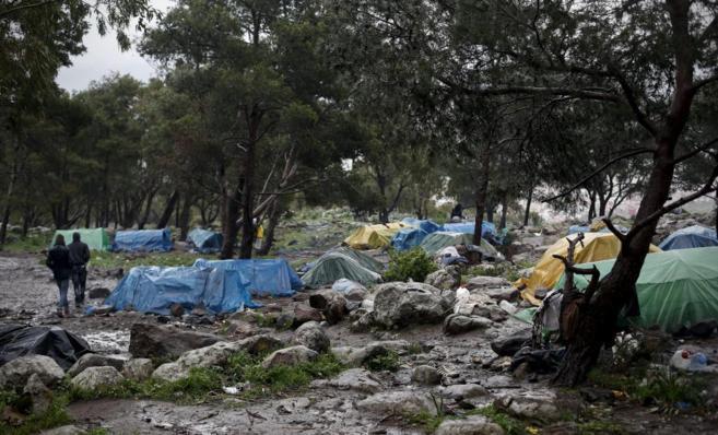 Uno de los rincones ocupados por los inmigrantes del Monte Gurugú.