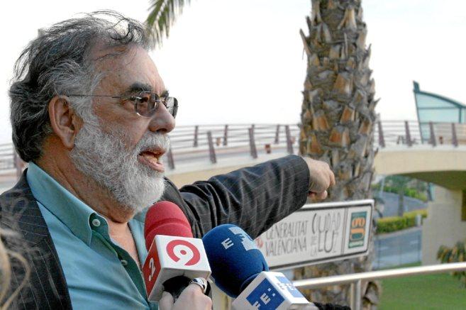 Coppola, durante su visita a Ciudad de la Luz en 2008.