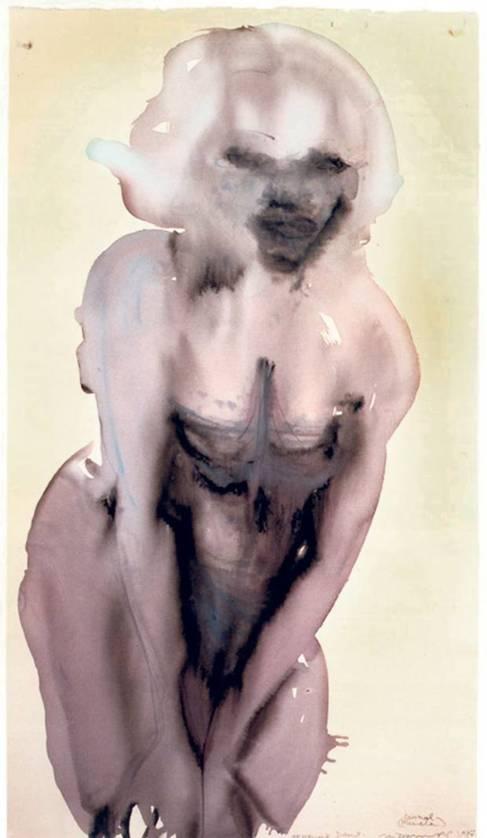 Una de las pinturas de Marlene Dumas.