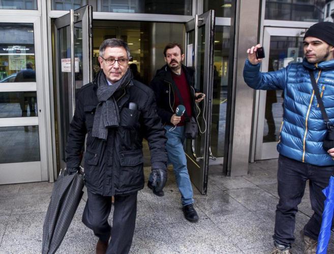 El ex delegado del gobierno y abogado Mikel Cabieces tras declarar el...