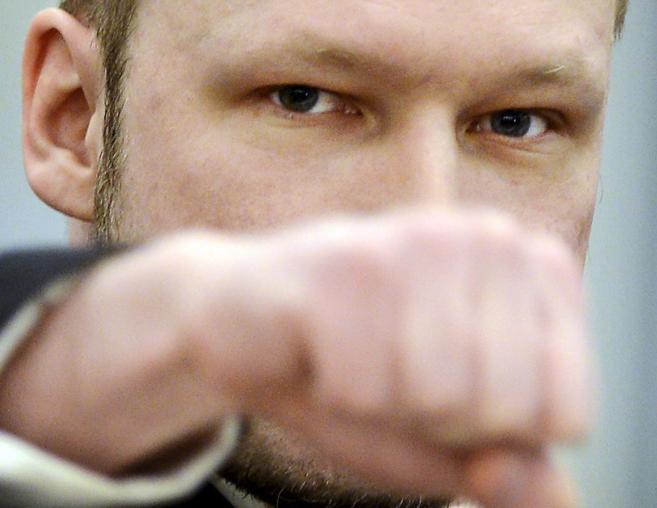 Anders Behring Breivik, durante un  momento de su juicio, en Oslo.
