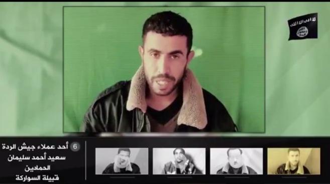 Imagen capturada del vídeo difundido por el Estado Islámico en el...