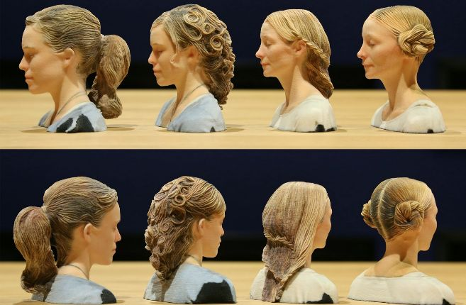 Ejemplos del resultado del algoritmo para el cabello en figuras...