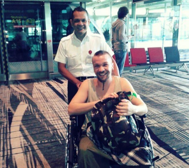 El paciente, en silla de ruedas cuando le diagnosticaron el...