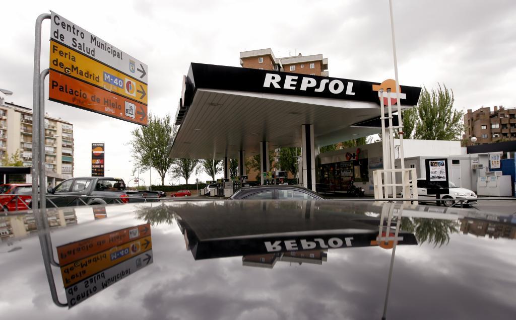 Una gasolinera de Repsol en Madrid.
