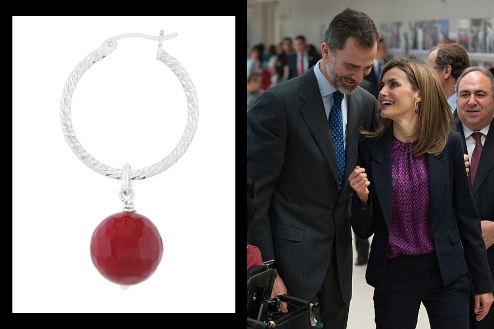 cdc7a3d50e68 Los pendientes de 54 euros de la Reina Letizia - Turmalina