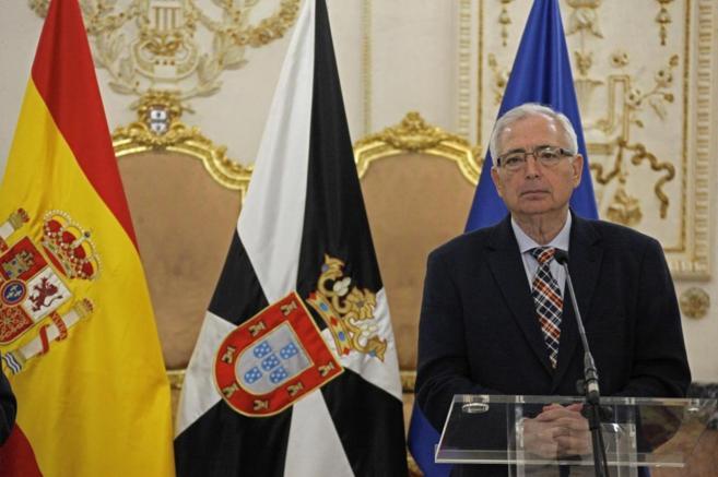 El presidente de Melilla, Juan José Imbroda, durante su rueda de...