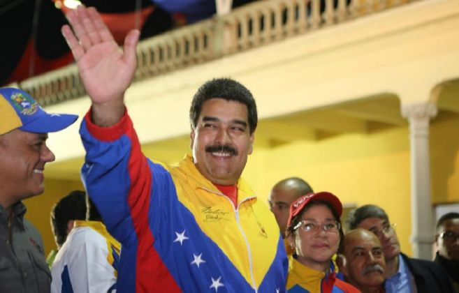 Nicolás Maduro durante un acto de gobierno.