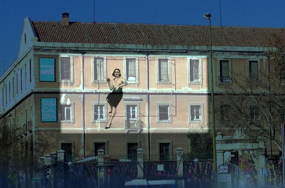 Imagen de una de las proyecciones de 'La ciudad invisible'...