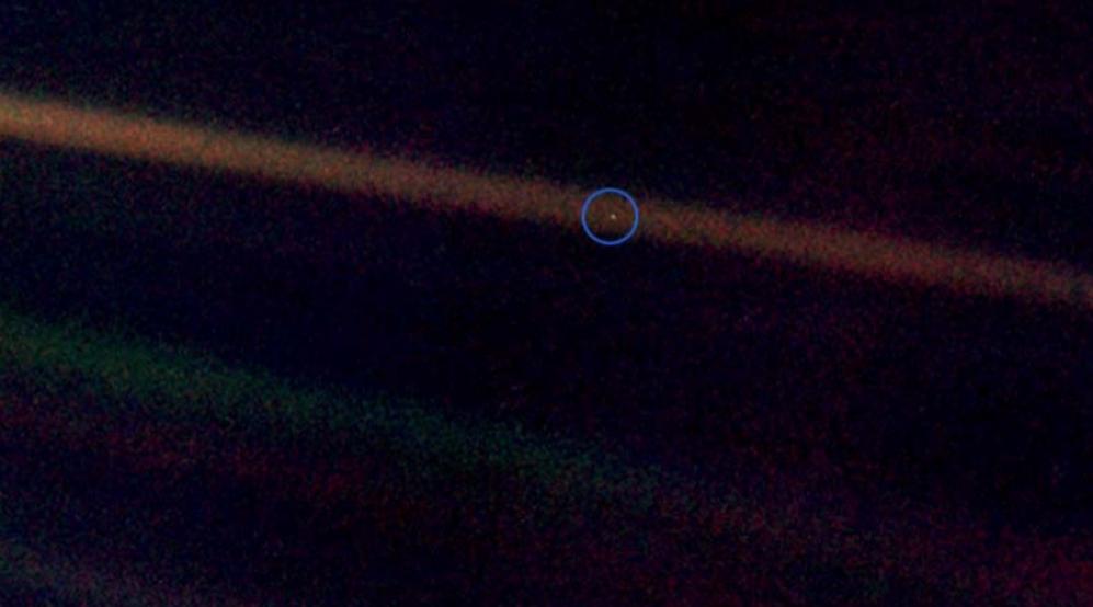 La Tierra: un 'punto azul pálido'.