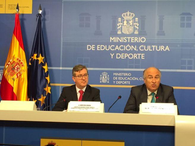 Marcial Marín, a la izquierda, y Fernando Benzo, durante la...