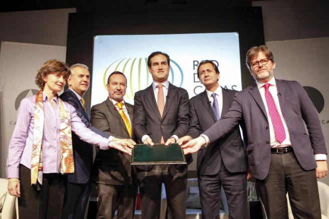 Los seis directores generales de la Red de Casas (de izq. a dcha.):...