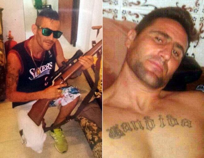 Dos de los hermanos 'Cachimba', Jorge (con el rifle) y...