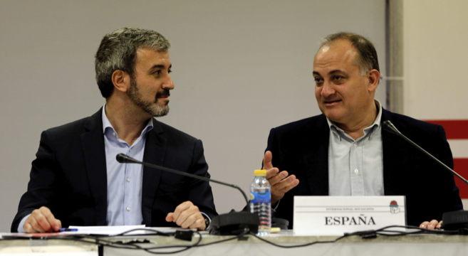 Los alcaldables socialistas de Barcelona, Jaume Collboni, y de...