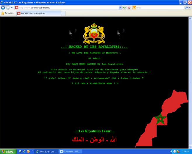 Página web de una universidad española atacada desde Marruecos.