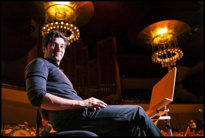 El músico David Afhkam.