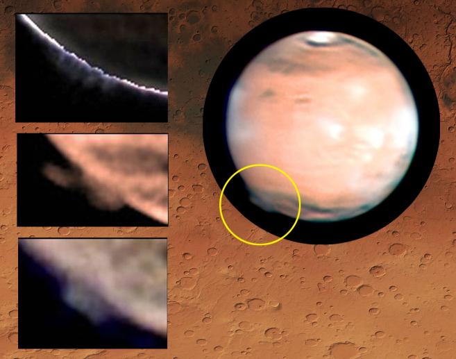 Marte con el penacho emergiendo en el limbo.