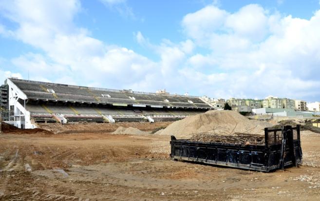 Estado actual de las obras de demolición del estadio mallorquín.