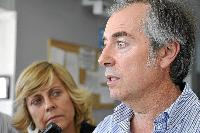 El presidente del Consell en Ibiza, Vicent Serra, ante los medios de...