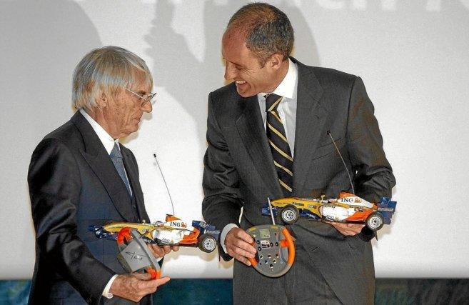 Bernie Ecclestone y Francisco Camps, en imagen de archivo.
