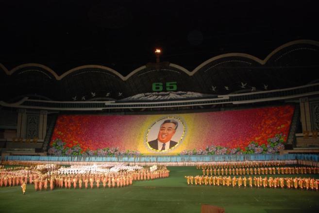Imagen de los juegos Arirang, el mayor espectáculo propagandístico...