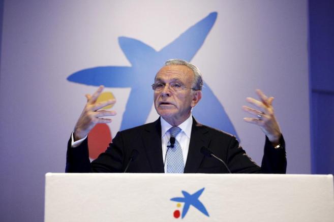 El presidente de Caixabank, Isidre Faine, durante una intervención en...