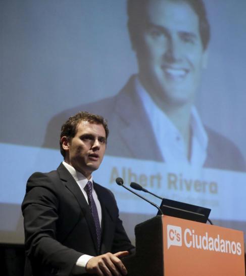 Rivera, en el Círculo de Bellas Artes de Madrid, este martes.